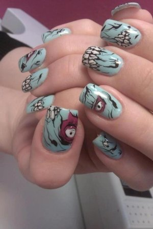 amazing scary halloween nails