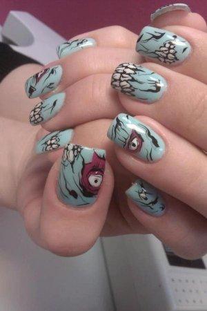 amazing scary halloween nails