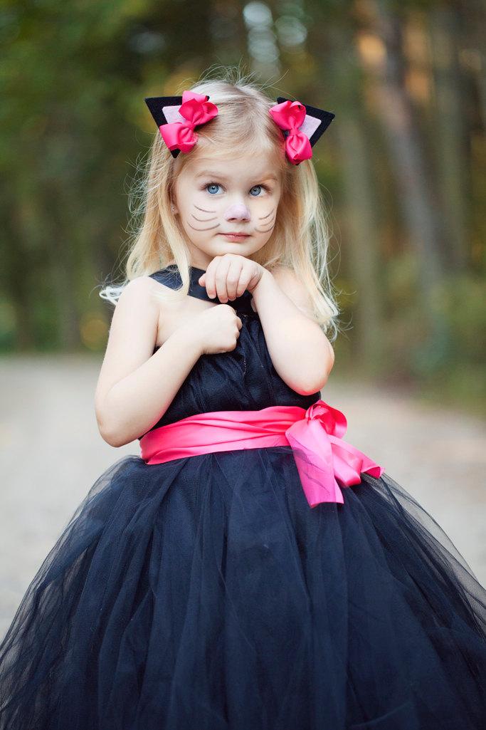 black cat halloween costume for girls