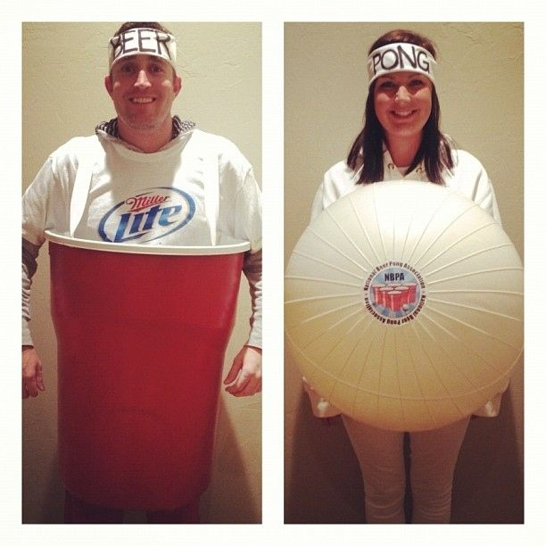 funny beer pong couple costume