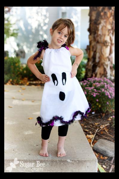 ghost pillowcase dress for halloween
