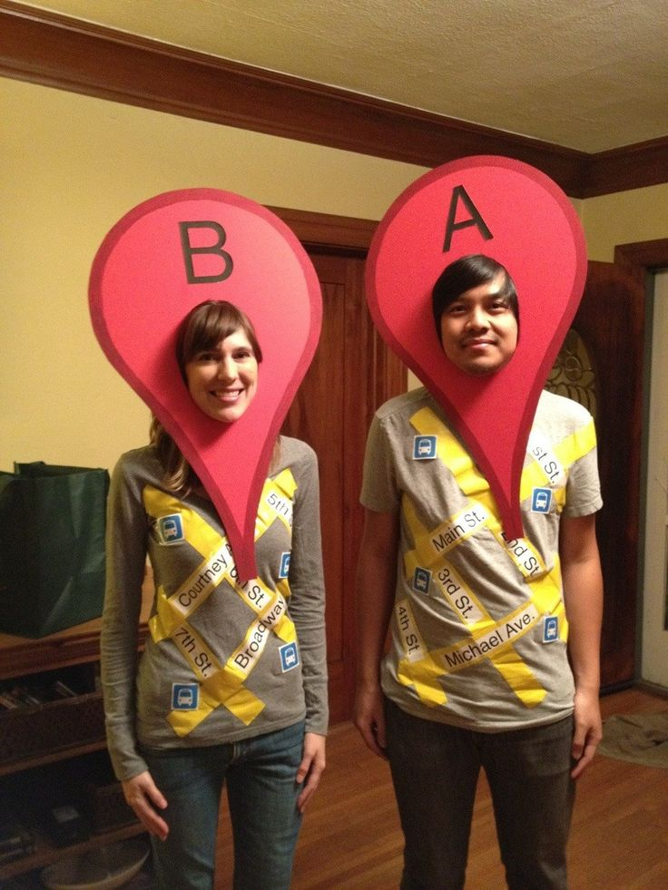 google maps halloween couple costume