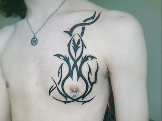 gothic tribal tattoo design