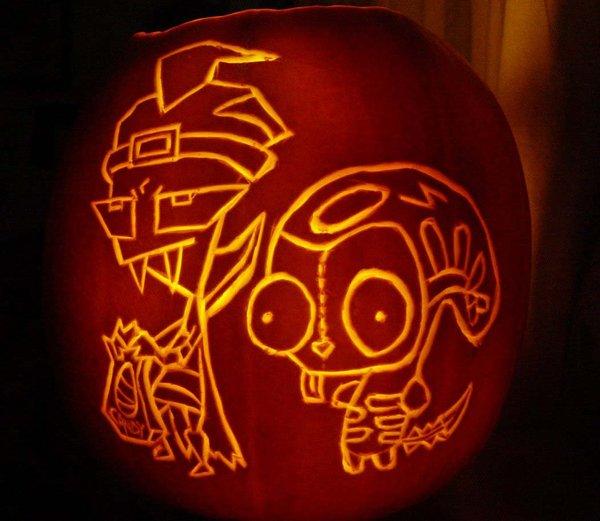 invader zim pumpkin carving ideas