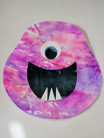 one eye moster jar halloween crafts for kids