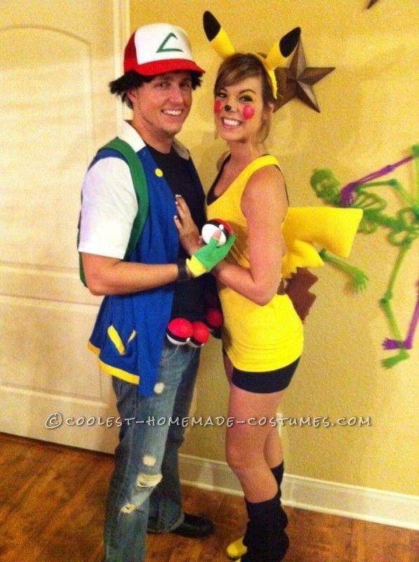 pikachu and ash couple halloween costume
