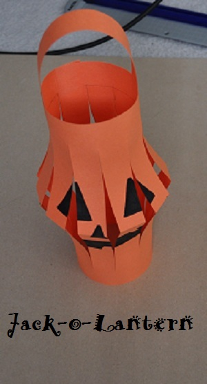simple jack o lantern paper halloween craft idea for kids
