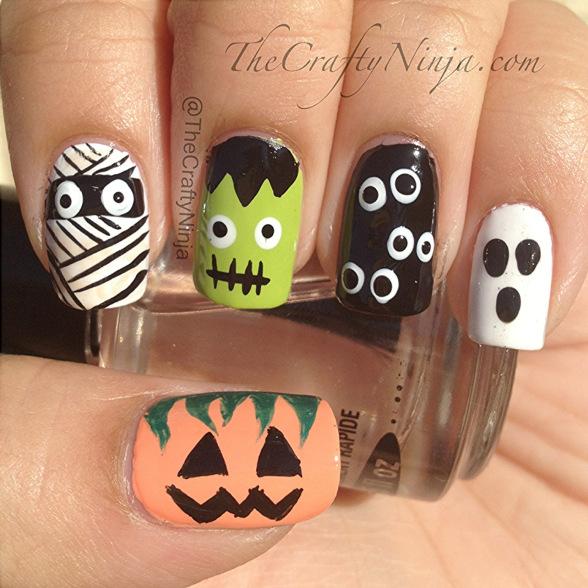 spooky halloween nail designs