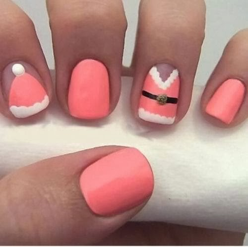 cute color winter nail art