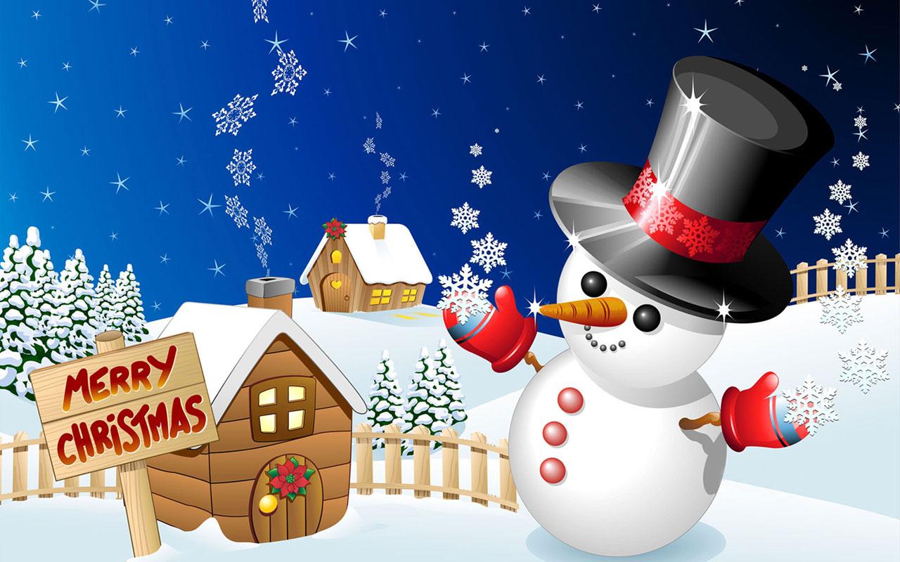 merry-christmas-snowman-wallpaper