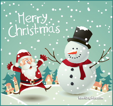 santa-claus-and-snowman-merry-christmas-wishes