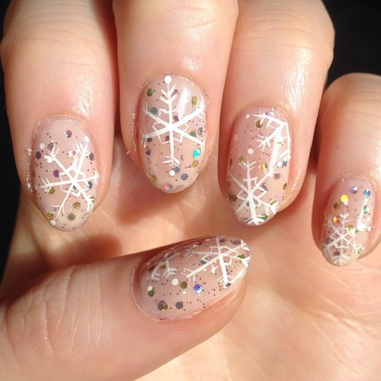 snowy the snowman winter nails