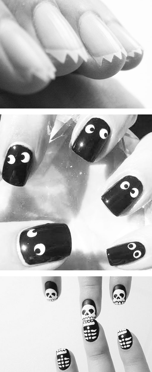 diy scary spooky halloween nails