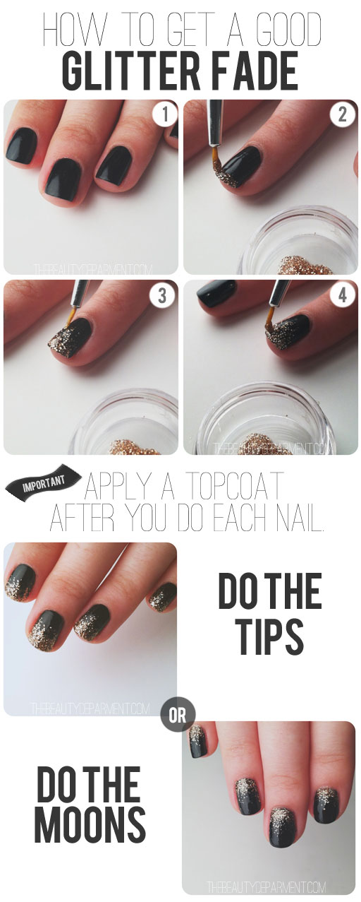 easy new year nail art