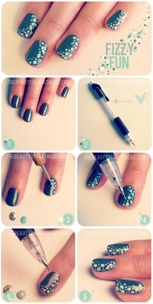 fizzy fun diy nails