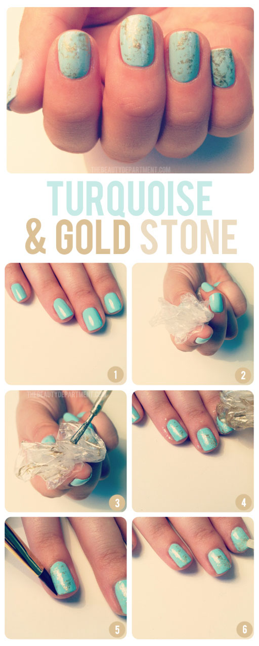 turquoise and gold stone