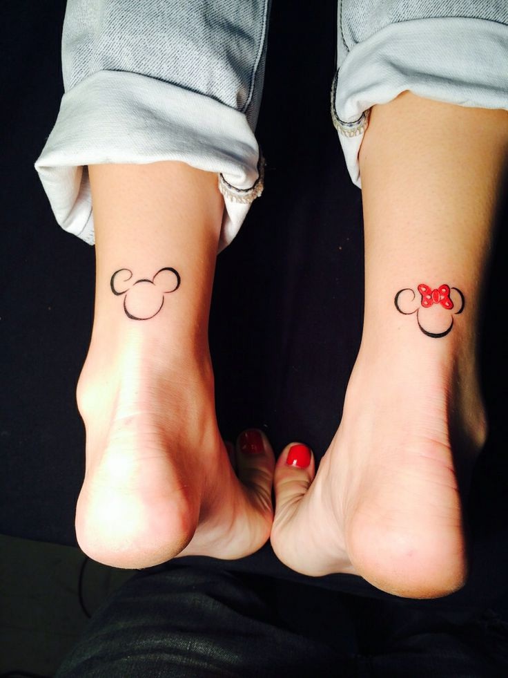 Cute-Minnie-Mickey-Ankles-Tattoo