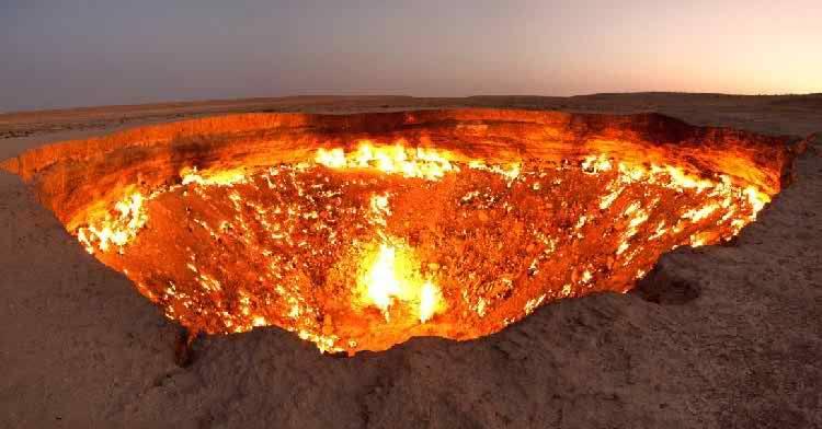 Doorway to Hell in Turkmenistan