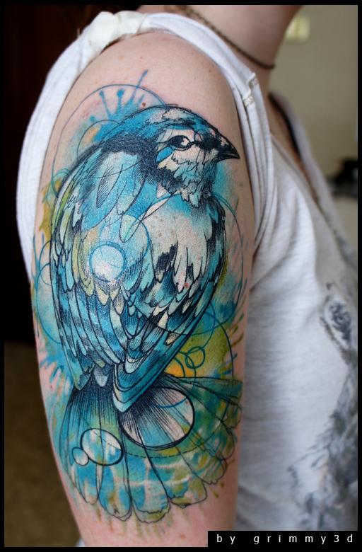 Beautiful Bird Tattoo Art