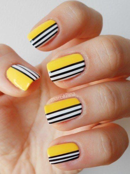 Colorful Striped Nail Art