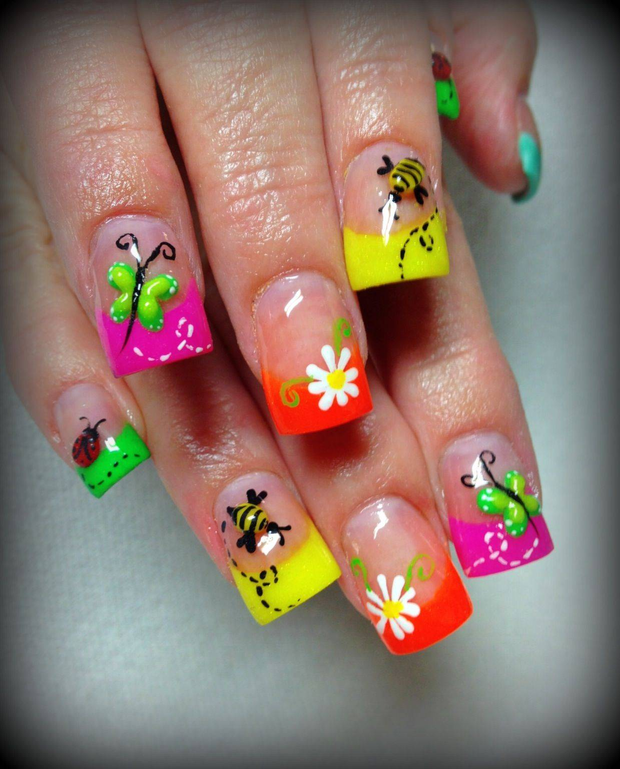 Cute Colorful Summer Nails for girls