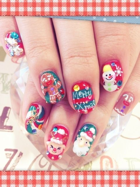cute nail art idea for christmas