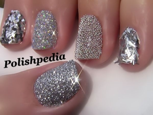 sparkling diamonds nail design