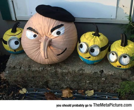minions-pumpkins-on-halloween
