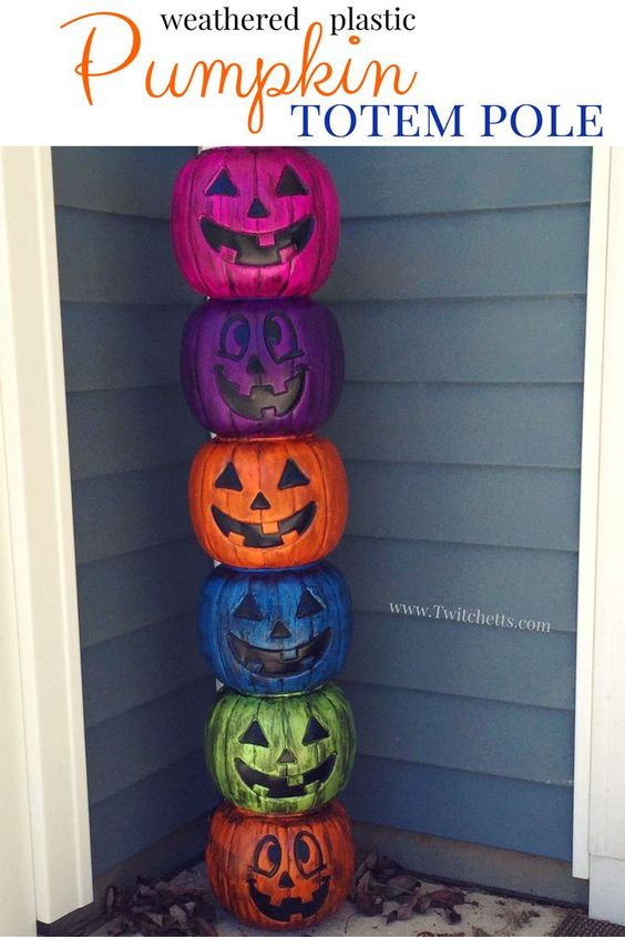 plastic-pumpkins-outdoor-decors