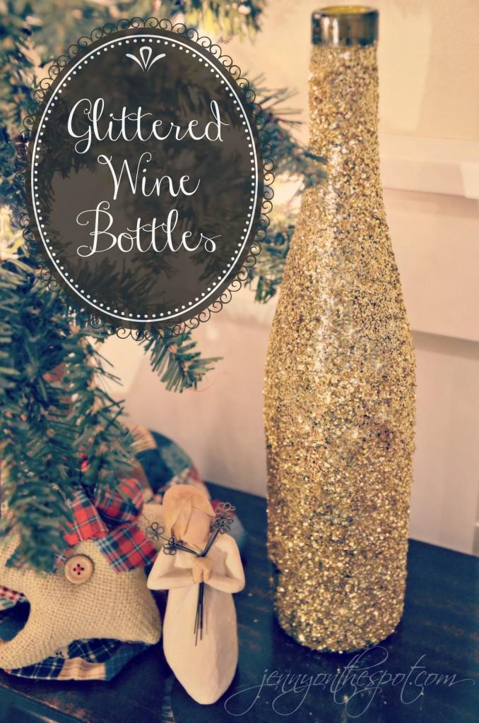 glittered-wine-bottles