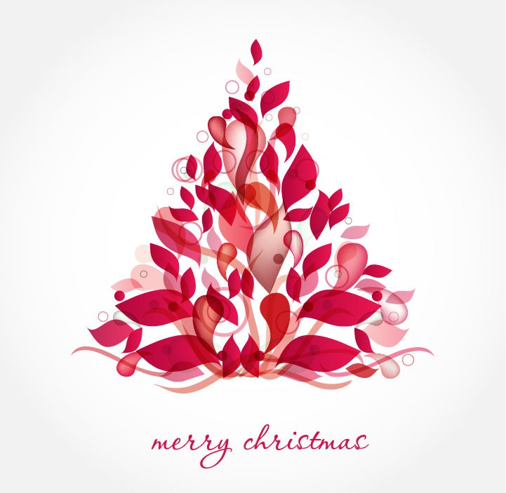 Abstract Vector Merry Christmas Graphics