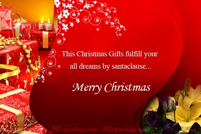 Merry Christmas Gifts Card