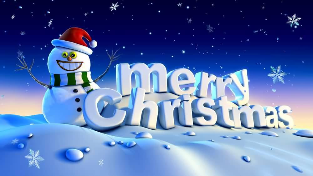 Merry Christmas Snowman Wallpaper Free