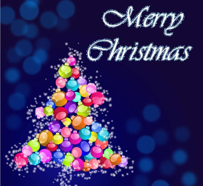 Merry Christmas balls tree image