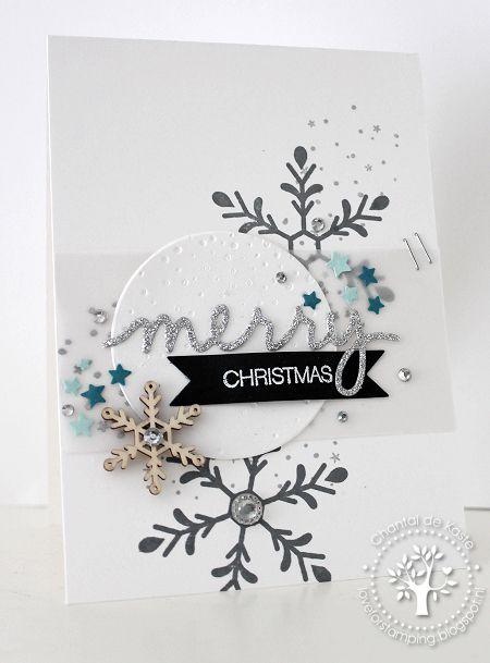 Merry Christmas snowflakes card photo
