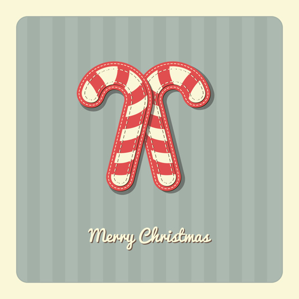 cute Merry Christmas Greeting Card