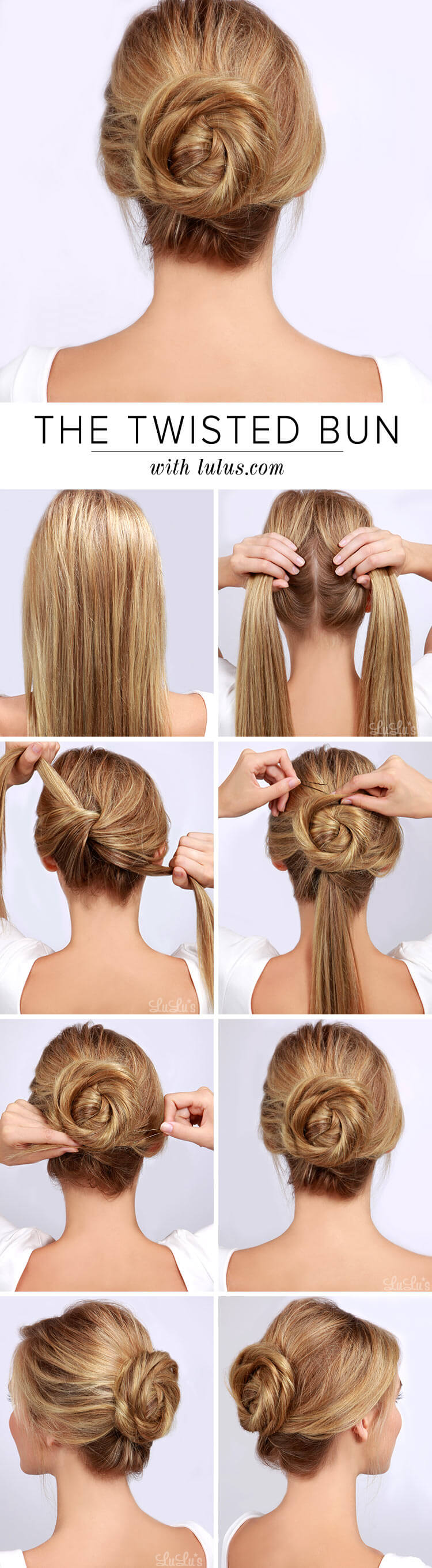 easy twist bun hairstyling