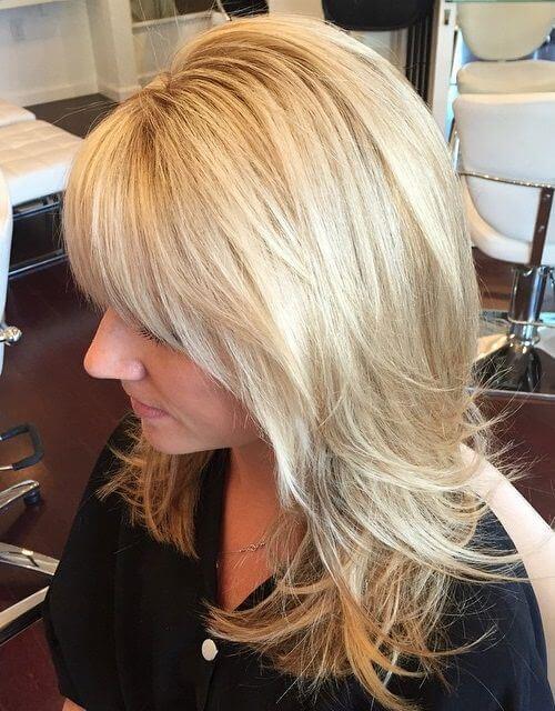 High Crown Layers Blonde Haircut
