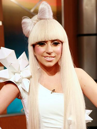 Lady Gaga Stright Bangs