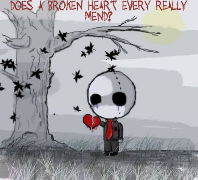 feel the pain of broken heart