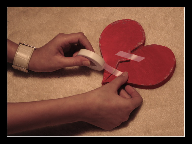 stitching the pieces of broken heart