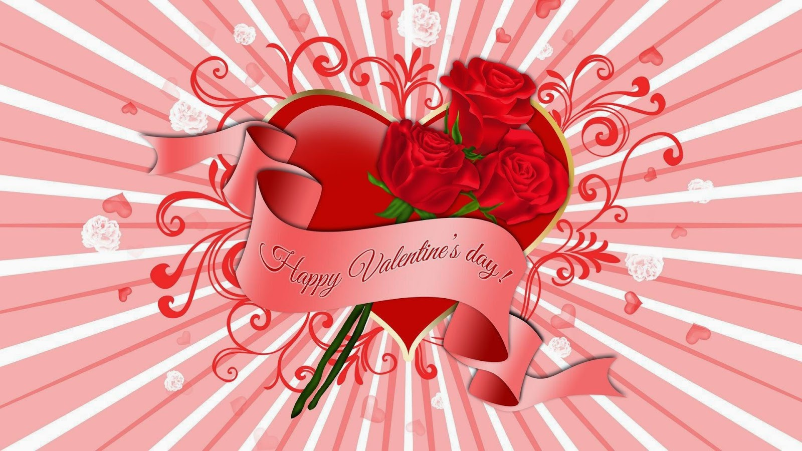Happy Valentines Day cute background picture