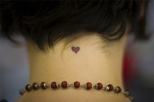 Small Heart on Neck Back