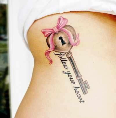 follow your heart key tattoo