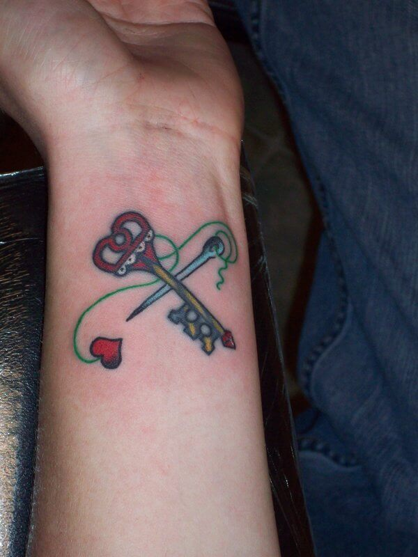 key to my heart tattoo