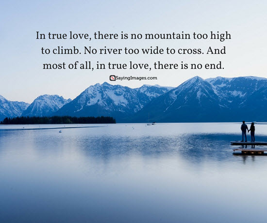 no end in true love quote picture