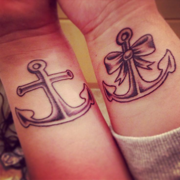 wrist anchor tattoos for couple
