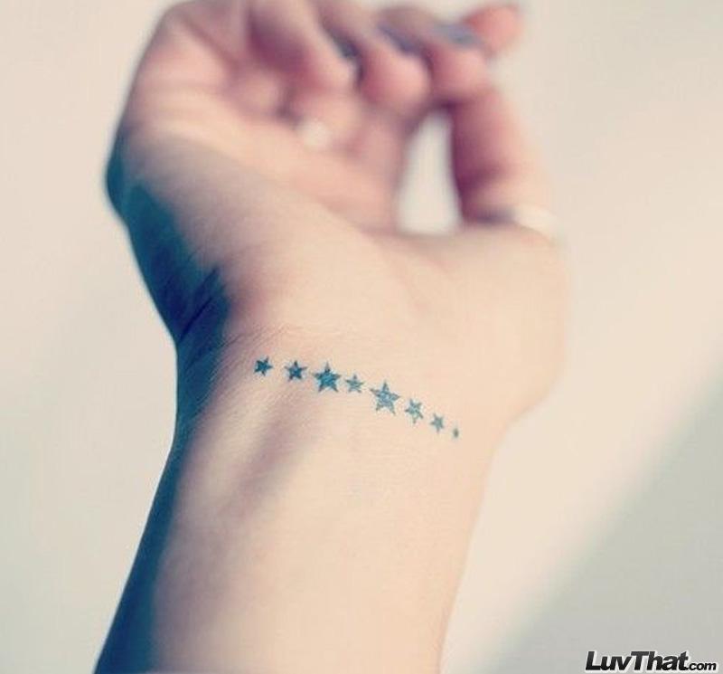 Minimal stars small wrist tattoos