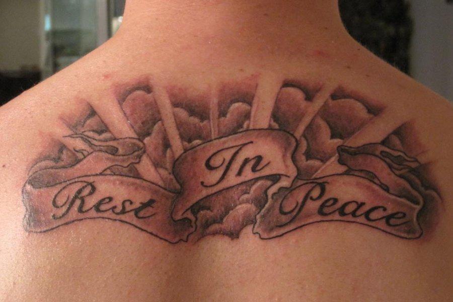 Rest In Peace Tattoo Design