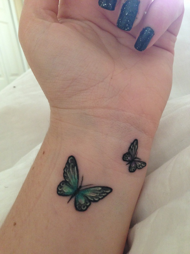Small butterfly tattoo